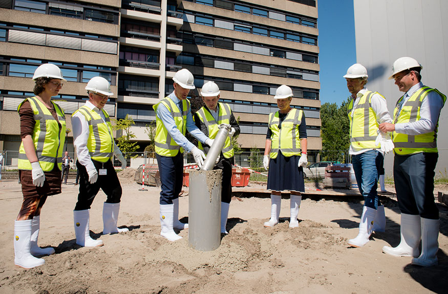Ground Breaking Ceremony HALIX B.V. Leiden, The Netherlands